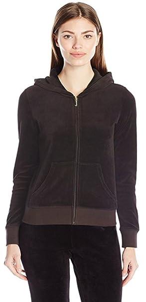 9e3c12e2a7f7 Womens Hoodie Hood Plain Jumper Ladies Velvet Casual Sweater Sweatshirt  Jacket Coat Size (12)