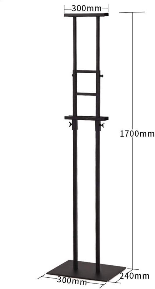 交換可能なサインボード 伸縮自在のポスターフレームポスターボードのディスプレイスタンドスタンド、交換可能な広告のラックサインが活動表示のためのスタンド、ダブルポールのサポート (色 : ブラック, サイズ : 30 x 170cm)