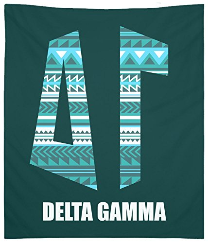 Monogram Tapestry - Delta Gamma (DG) Tribal 5 Monogram Wall Tapestry for Bedroom and Wall Decor for Dorm