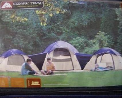 Ozark Trail 3 Dome Connection Tent Sleeps 10 & Amazon.com : Ozark Trail 3 Dome Connection Tent Sleeps 10 : Sports ...