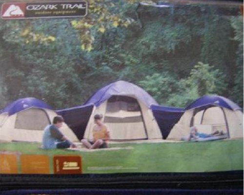 Amazon.com  Ozark Trail 3 Dome Connection Tent Sleeps 10  Sports u0026 Outdoors : ozark trail 3 room dome tent - memphite.com