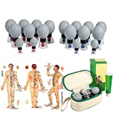 Vacuum Magnetic Cupping, 18pcs/12pcs/8pcs Silica Gel Suction Cup Acupuncture Moxibustion Massage Set for Relief Muscle Soreness,Toning Cellulite (18pcs)