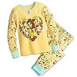 Disney Belle Floral PJ Pals Pajamas Size 7
