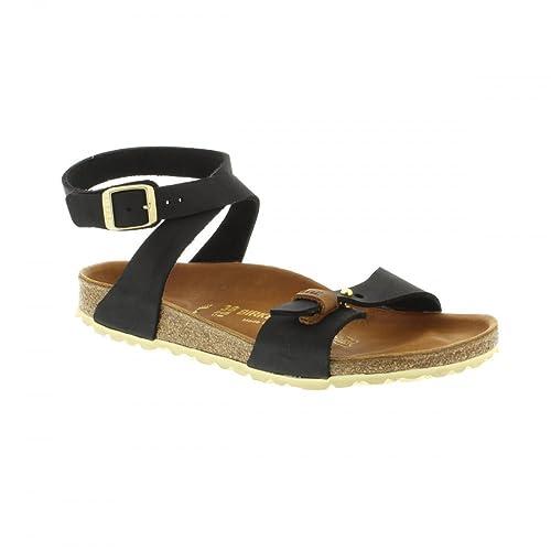 BIRKENSTOCK 744203 DEHLI URBAN SANDALI DONNA scarpe ciabatte pelle Black  (36 ecfb3246ef8