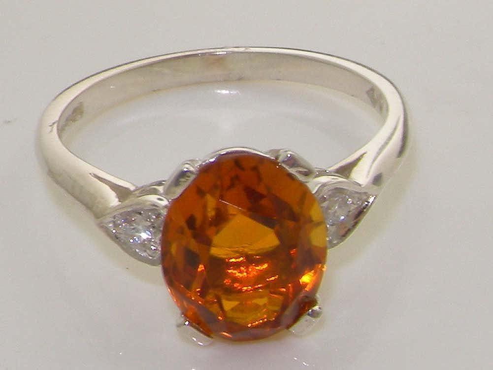 Amazon.com: Plata de ley 925 natural citrino y diamantes ...