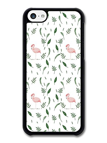 Flamingo Pattern, Pink White and Green Stylish coque pour iPhone 5C