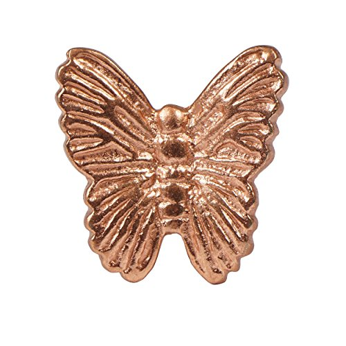 Set of 4 Rose Gold Butterfly Knobs  Ornate Pulls for Cabinets Dressers and Drawers  Decorative Handmade Knobs for Living Room Bedroom and Kitchen Cabinetry by Artisanal Creations