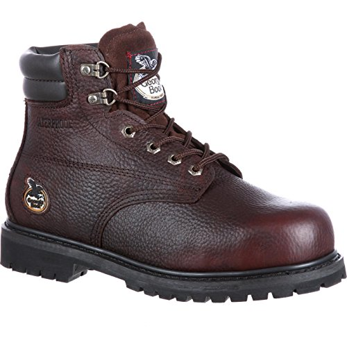 Georgia Men's Oiler-M Steel Toe Work Boot, Brown, 12 M US