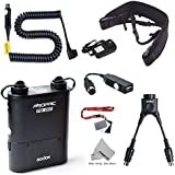 Fomito Godox PB960 Portable Extended Flash Power Battery Pack Kit Dual Output for Nikon SB910, SB900, SB800, SB28 Euro, SB28DX, for AD360II AD360 AD180, for Smartphone Black