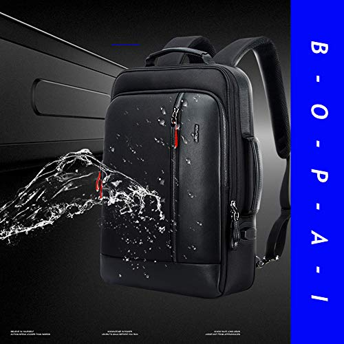 Bopai Intelligent Increase Backpack and Anti-Theft Laptop Rucksack with USB Charging Business Laptop Backpack for Men Water Resistant College Backpack, Black by BOPAI (Image #5)