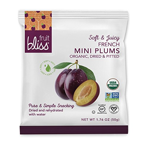 Organic French Plum Dried Fruit Snacks, Soft & Juicy Sun - Dried Plums - Mini Snack Pack, Pitted Plums Organic Fruit Snacks - Non-GMO, Gluten-Free, Vegan Plum Snacks (12 Mini Pack - 1.76 oz. each) (Organic Non Gmo Fruit Snacks)