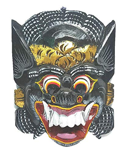 Indonesian Carving - MY HOPE Handicraft Carving Indonesia Giant Mask Multicolored