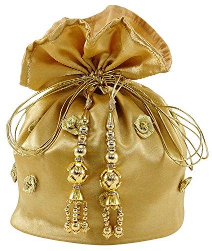 Darling Souvenir 15 Satin Drawstring Wedding Party Gift Potli Bag Thank You Favor Pouches