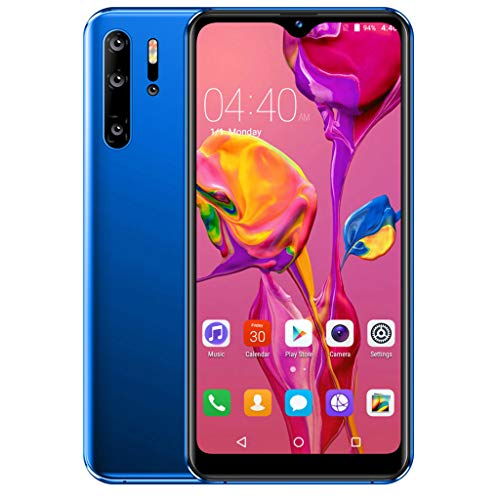 Outtop(TM) P30 Unlocked Smartphone 6.3inch MobilePhone Camera 1G+4G GPS 3G Android Smartphone Big Capacity Battery (Blue)