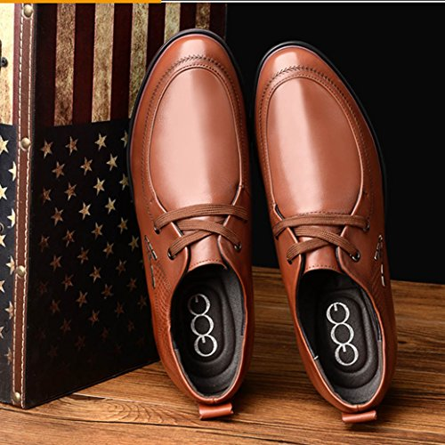 27973261efa6 Men s Height Increasing Elevator Shoes 3.15 Inch Business Casual Round-toe  Cow Leather Derby Shoes