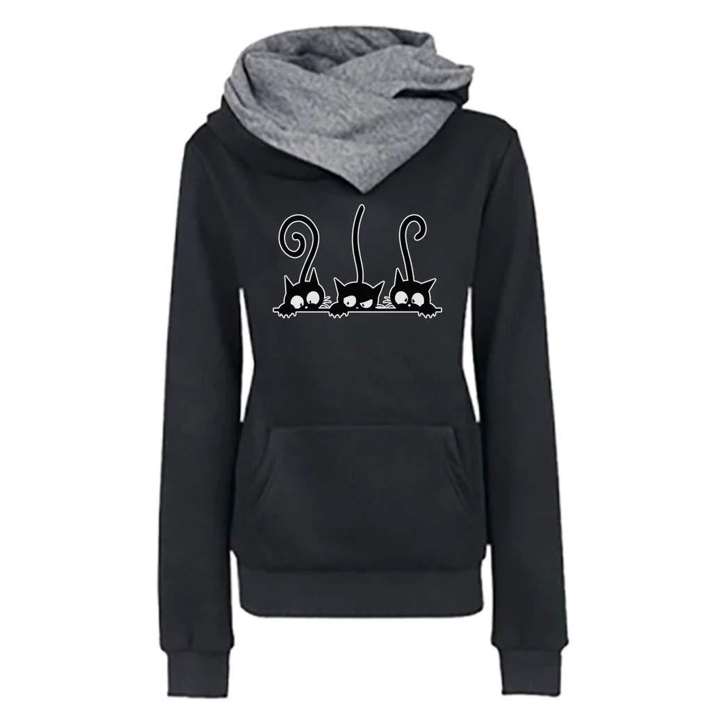 HebeTop  Women Sweatshirts Teen Girls Casual Long Sleeve Planet Print Hoodie Pullover Tops Jumper Hooded Blouse by HebeTop➟Women's Clothing