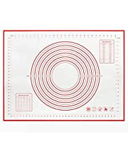 YOMYM non-slip silicone pastry mat, large size, size 60x40CM, silicone baking mat for counter mat, dough rolling mat, pie crust mat