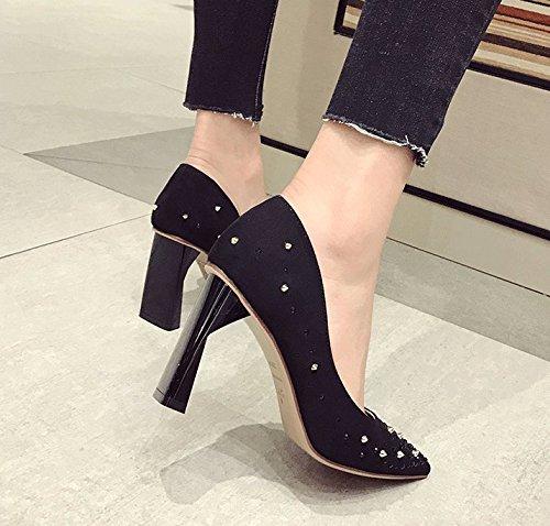 de zapatos negro zapatos grueso agua en alto primavera caliente elegante mujer de tacón talón de Zapatos SFSYDDY profesional tacón hembra OwS4gg