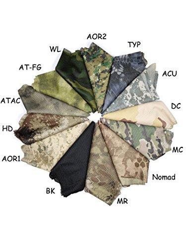 QMFIVE Écharpe tactique camouflage, hommes et femmes unisexe multi-usages bandeau militaire style tête wrap face mesh… 6