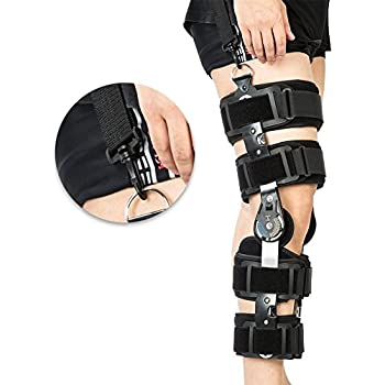 5725f9565a Hinged ROM Knee Brace with Strap,Ideal for ACL/Ligament/Sports Injuries,  Mild Osteoarthritis(OA) & for Preventive Protection from Knee Joint Pain/  ...