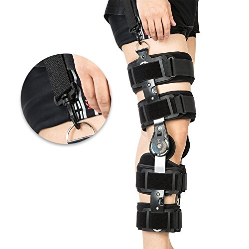 Hinged ROM Knee Brace with Strap,Ideal for ACL/Ligament/Sports Injuries, Mild Osteoarthritis(OA) & for Preventive Protection from Knee Joint Pain/Degeneration ()