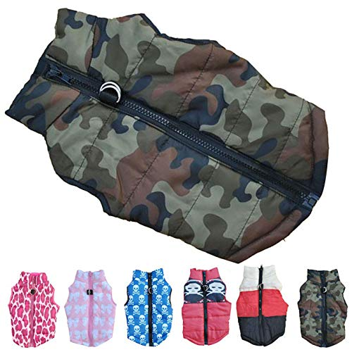 Duseedik Pet Coat, Puppy Fashion Camouflage Cloth Dog Winter Warm Cotton Vest ()
