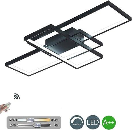 KBEST Moderna lámpara LED de Techo para salón, Regulable