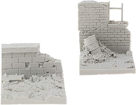 Le rovine della battaglia della seconda guerra mondiale in scala 1//35