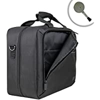 DJI Spark Drone Carrying Travel Case by USA Gear - Shoulder Strap, Customizable Cushioned Dividers, Accessory Pockets - Fits Drone, Controller, Propellers, Flight Batteries, Charger Hub, and more