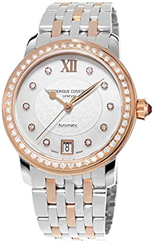 Frederique Constant Women's FC303WHF2PD2B3 World Heart Federation Diamond-Accented Rose-Gold-Plated Stainless Steel (Swiss Mechanical Automatic)