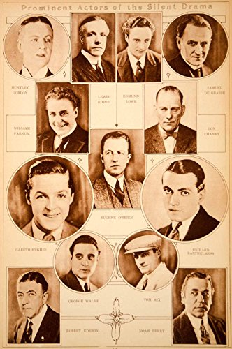 1923 Rotogravure Lon Chaney Richard Barthelmess Tom Mix Noah Beery Silent Film - Original Rotogravure