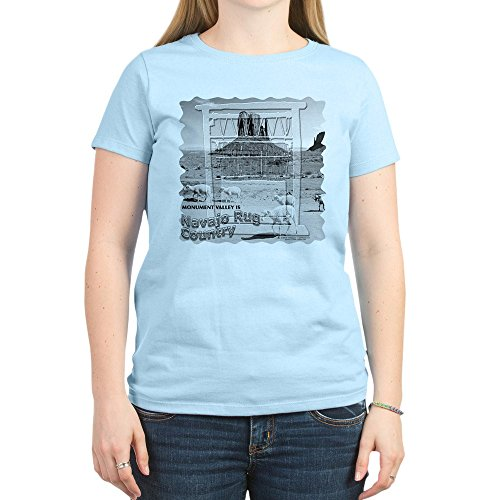 CafePress Monument Valley 4 Navajo Rugs Women's Pink T-Shirt - Womens Cotton T-Shirt, Crew Neck, Comfortable & Soft Classic Tee
