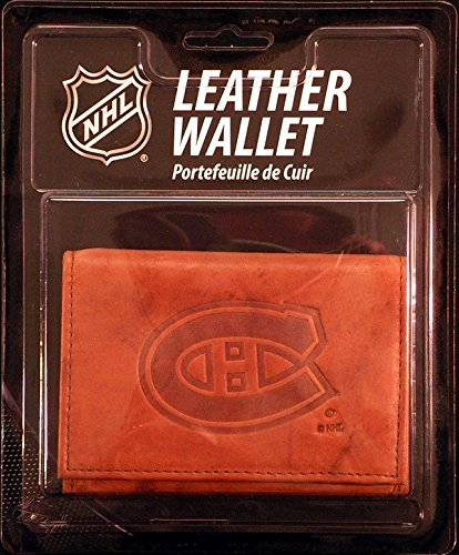 Rico Industries NHL Montreal Canadiens Leather Trifold Wallet with Man Made Interior