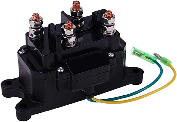 GooDeal 12V Solenoid Relay Contactor with Winch Rocker Thumb Switch for ATV UTV