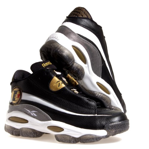 Reebok The Answer DMX 10 Mens in Black/White/Metallic Gold/Red/Clear, 11