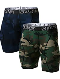 """Tesla Men's Relaxed 3"""" 6"""" 9"""" Open-Fly Cool Dry Mesh Boxer Briefs (2-Pack)"""