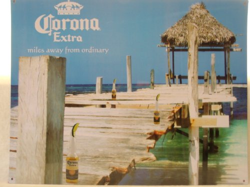 CORONA EXTRA SIGN,BEER,BEACH Advertising Funny Bar,Metal
