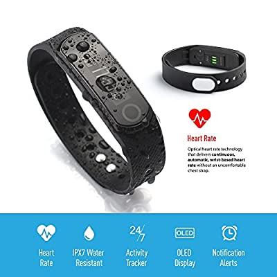 Jarv Elite HR Heart Rate + Fitness Tracker with Sleep and Wrist-Based Heart Rate Monitor, Hi-Res OLED Display, Bluetooth Wireless Activity Tracker Sync and 10 Day Battery