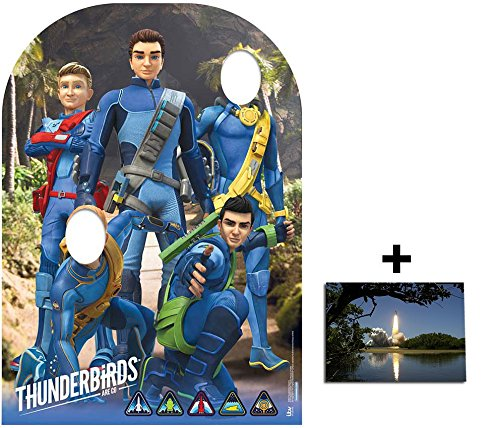 (Fan Pack - Thunderbirds Are Go Child Size Stand-in Cardboard Cutout / Standee / Standup Includes 8x10 (20x25cm) Photo)