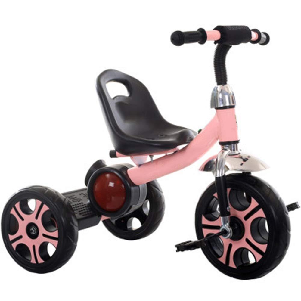 YUMEIGE 子ども用自転車 子供三輪車音楽付きキッズペダル自転車2-5歳古い、積載量25キログラムベビーカー男の子女の子おもちゃの車 利用できるサイズ (色 : ピンク)  ピンク B07QJWJY7F