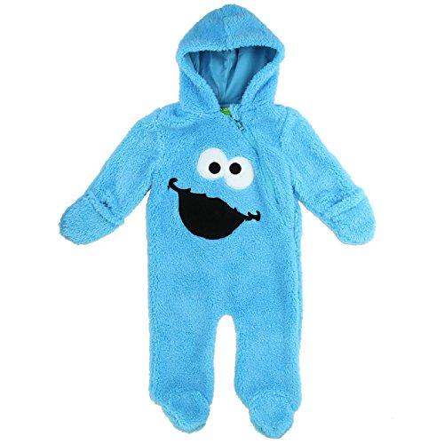 sesame-street-baby-boys-hooded-sherpa-bunting-pram-6-9-months-cookie-blue