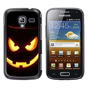 - Halloween - - Monedero pared Design Premium cuero del tir¨®n magn¨¦tico delgado del caso de la cubierta pata de ca FOR Samsung GALAXY Ace 2 I8160 Funny House