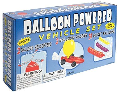 Toysmith Balloon Powered Vehicle Set (Set Rocket Balloon)