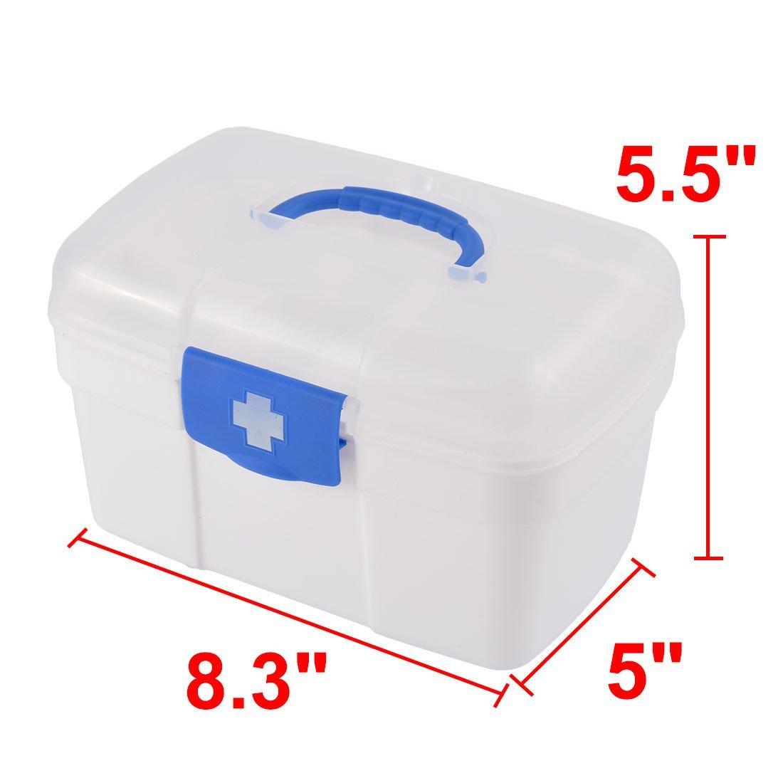 Amazon.com: eDealMax Píldora plástico del hogar de la tableta Caja de almacenamiento caja de primeros auxilios Medicina de contenedores: Home & Kitchen