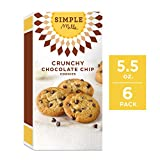 Simple Mills Crunchy Cookies, Chocolate Chip, 5.5 Ounce, 6 Count