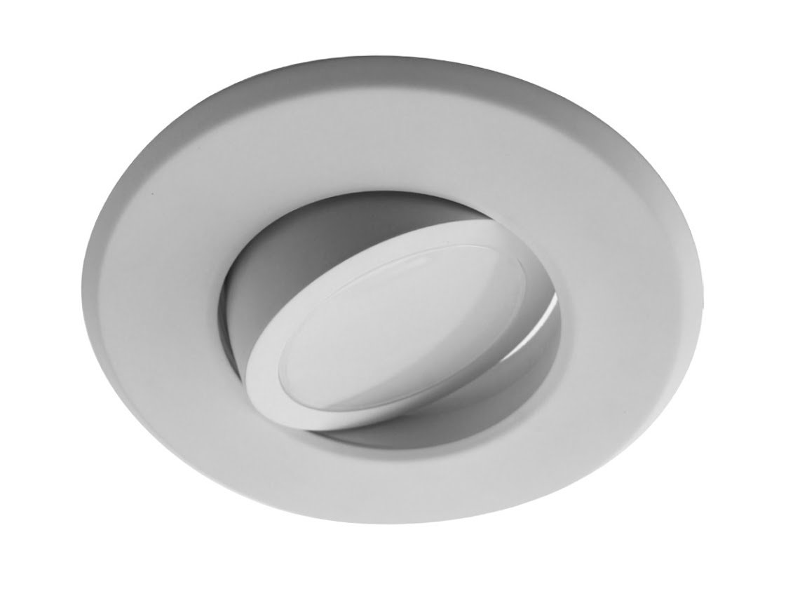 NICOR Lighting 5/6-Inch Dimmable 3000K LED Gimbal Recessed Downlight, White (DLG56-10-120-3K-WH)