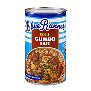 Blue Runner—Creole Chicken & Sausage Gumbo Base 25 Ounce (Pack of 6)—A Rich, Flavorful & Authentic Creole Classic—Just Add Meat