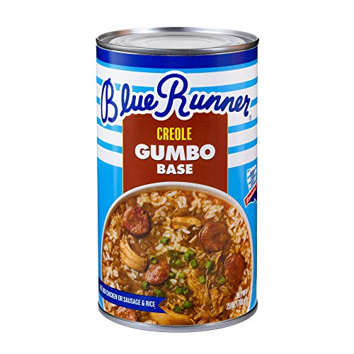 Blue Runner-Creole Chicken & Sausage Gumbo Base 25 Ounce (Pack of 6)-A Rich, Flavorful & Authentic Creole Classic-Just Add Meat ()