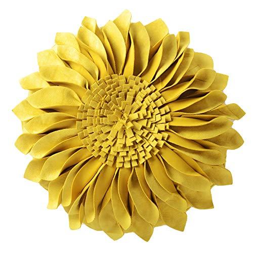 Amazon.com: JWH - Cojín decorativo con diseño de girasol 3D ...
