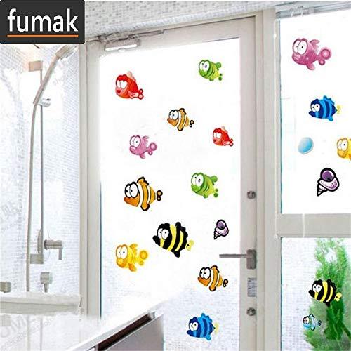 fumak Wall Decals - Underwater Fish Starfish Bubble Wall Sticker for Kids Rooms Cartoon Nursery Bathroom Children Room Home Decor Wall Decals
